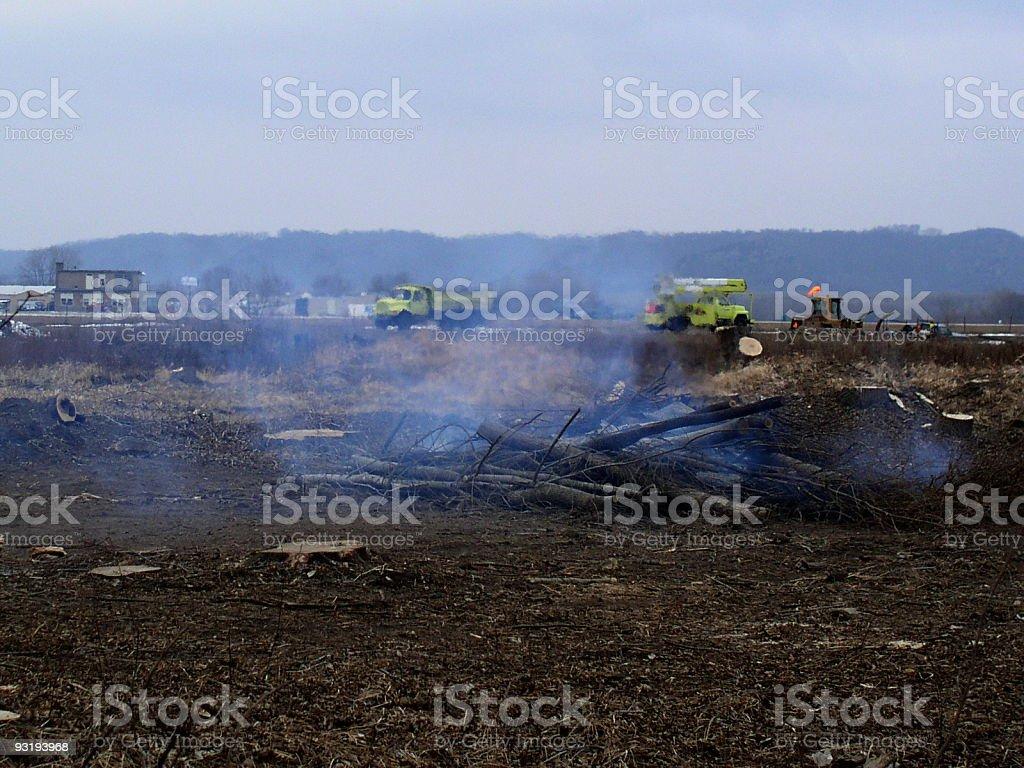 Crash scene? Looks like it anyway! royalty-free stock photo