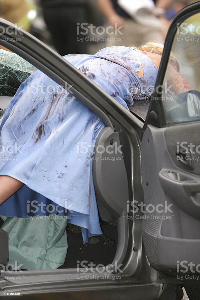 DUI Crash Series stock photo
