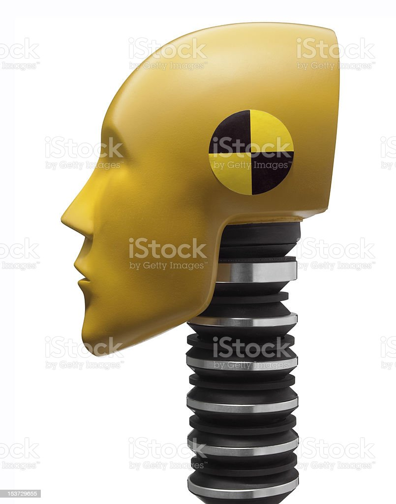 Crash test dummy head stock photo