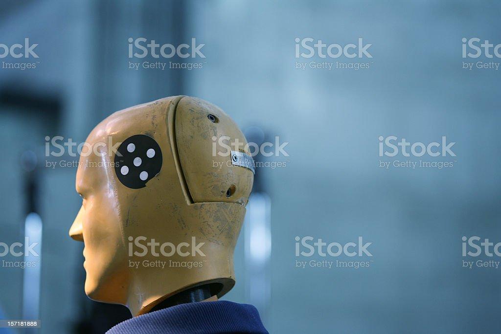Crash test dummy head stock photo