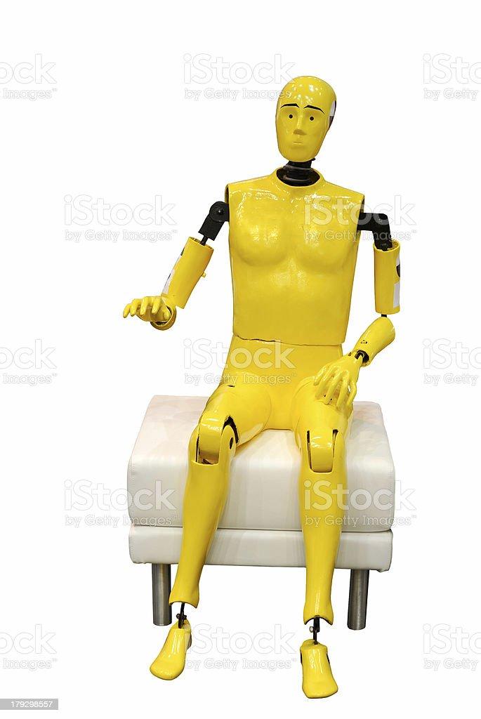 Crash test dummy stock photo