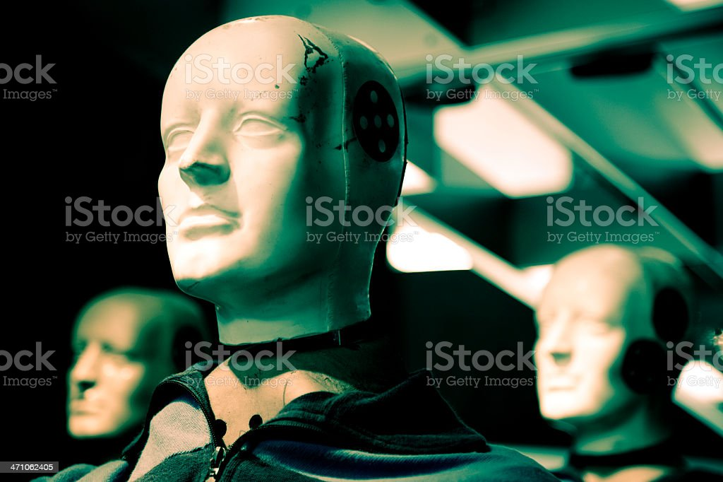 crash test dummy VI (cross processed) royalty-free stock photo
