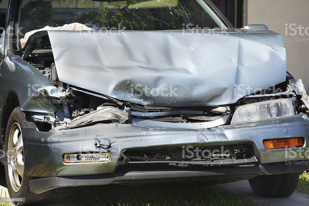 Crashed Car royalty-free stock photo