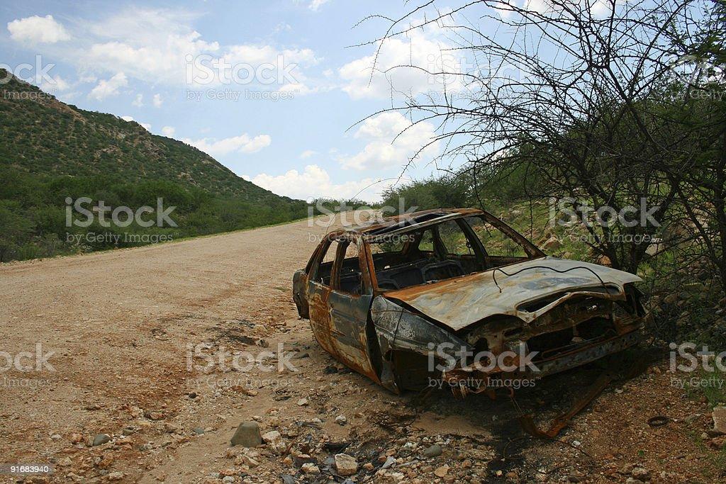 Crashed Car royalty-free stock photo