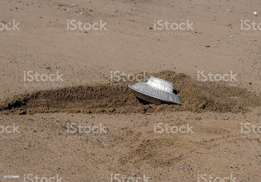 Crashed Flying Saucer stock photo