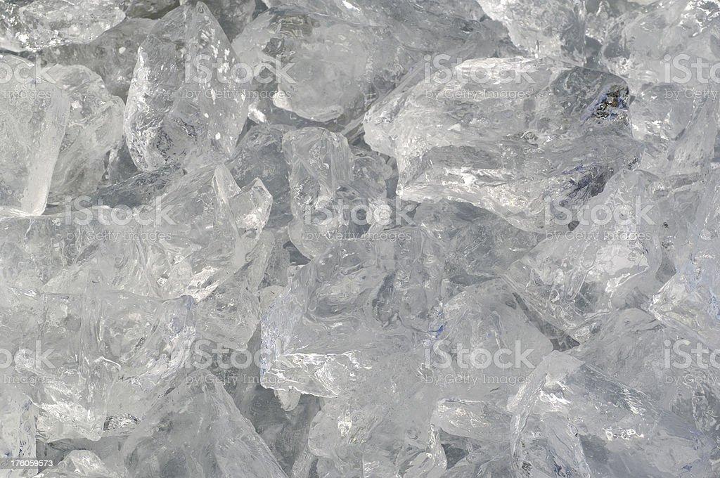 Crashed ice very close shot royalty-free stock photo