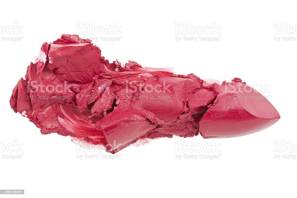 Crashed lipstick royalty-free stock photo