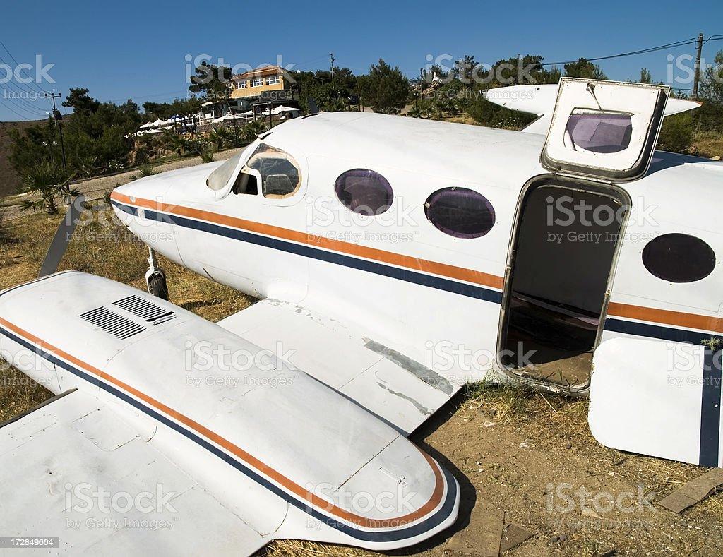 crashed  plane royalty-free stock photo