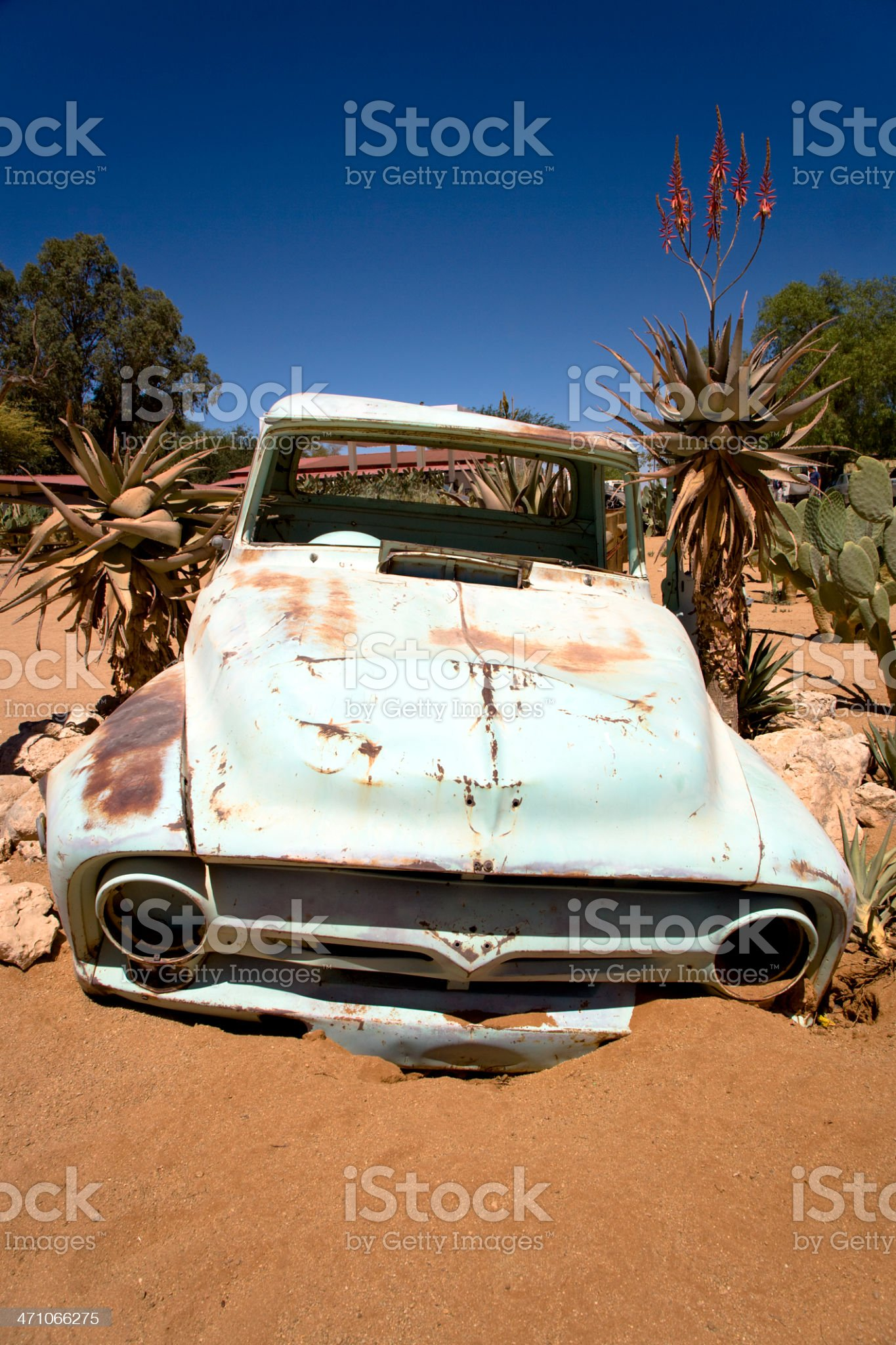 Crashed Vintage Car Wreck royalty-free stock photo