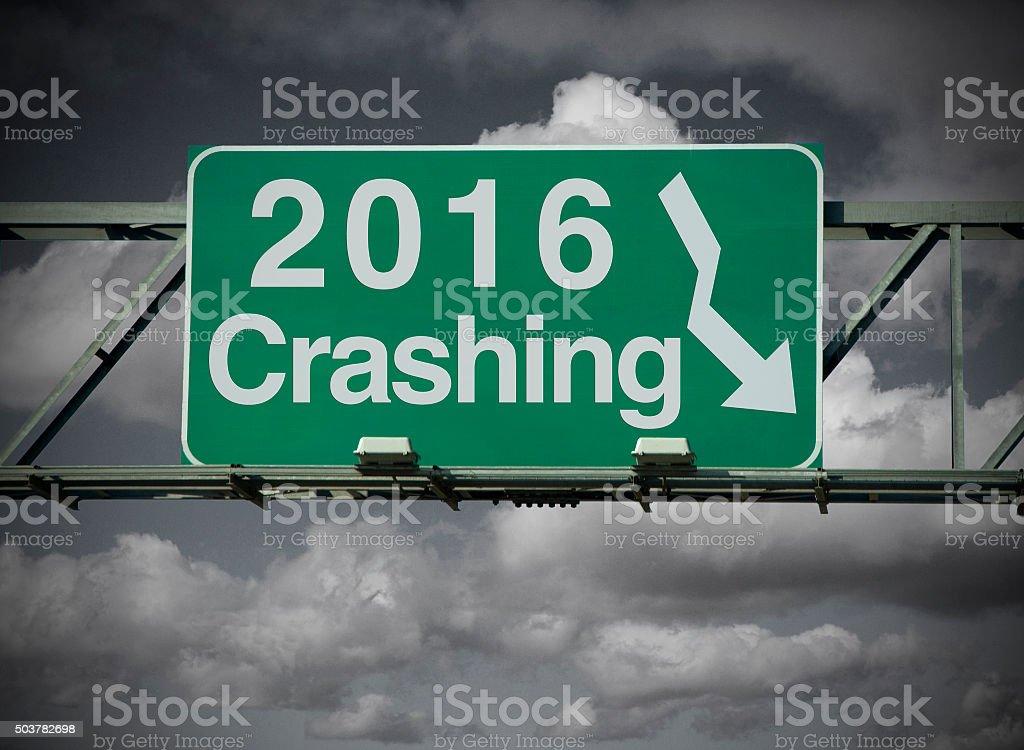Crashing 2016 stock photo