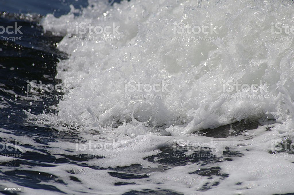 Crashing Sea Wave royalty-free stock photo