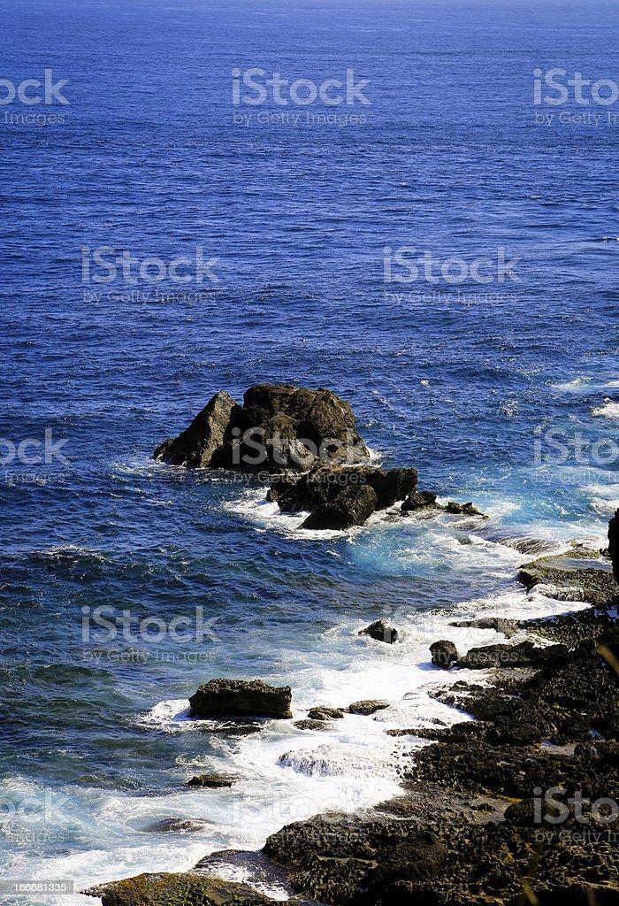 Crashing wave royalty-free stock photo