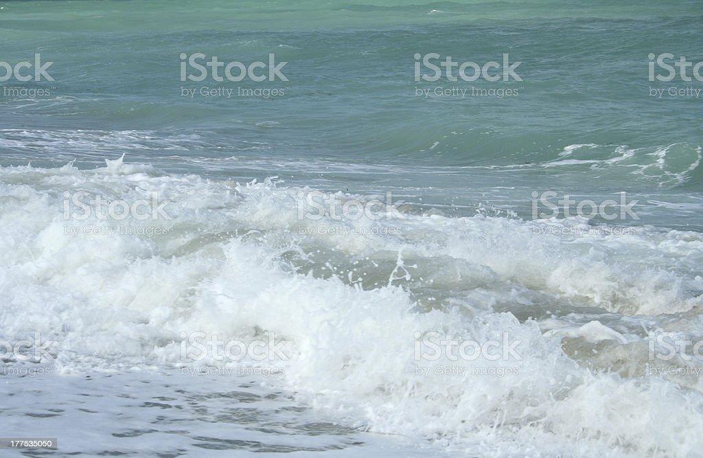 Crashing waves 2 stock photo