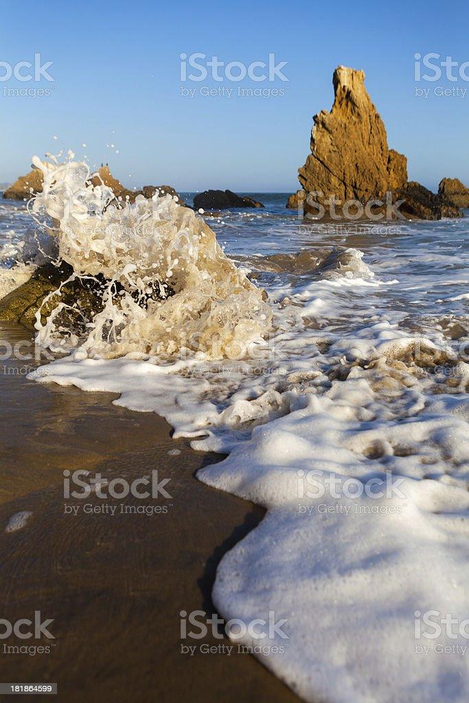 Crashing Waves in Malibu royalty-free stock photo