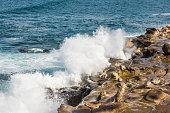 Crashing waves on La Jolla Cove in San Diego