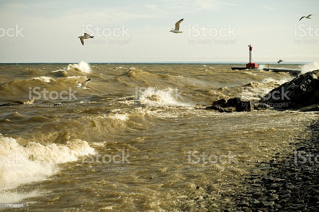 Crashing Waves, Stormy Seas royalty-free stock photo