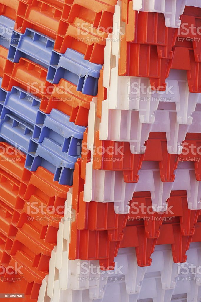 Crate Container Plastic Grocery Bin royalty-free stock photo