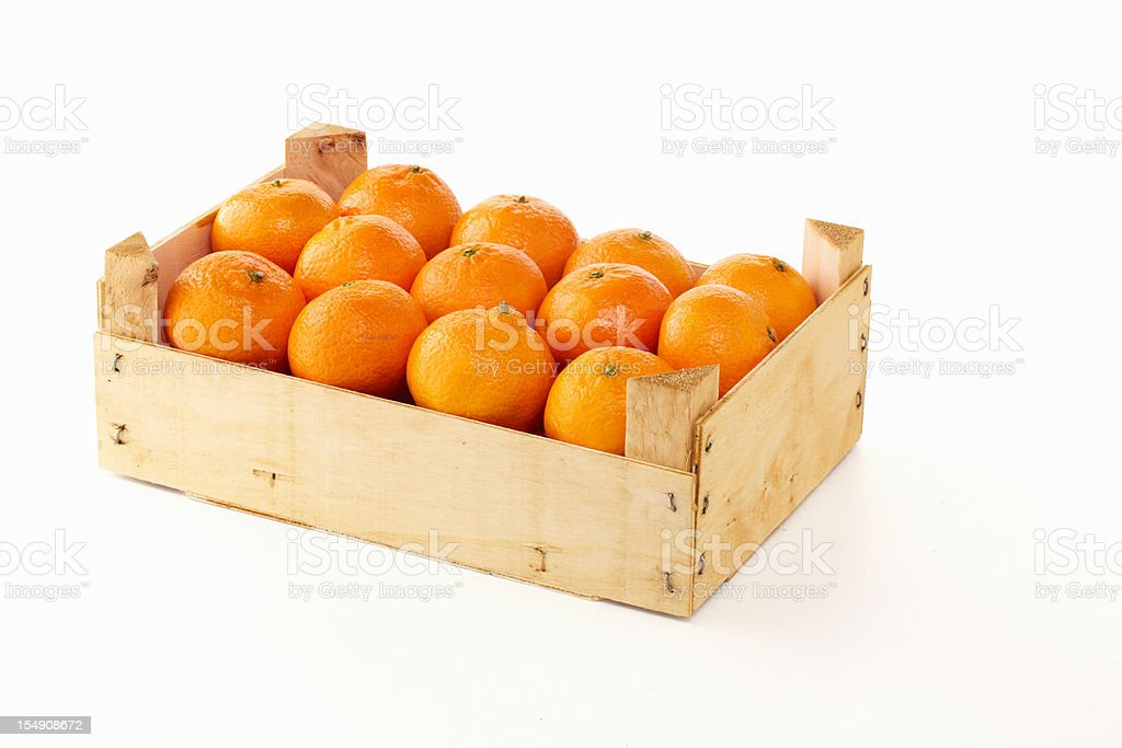 Crate of oranges royalty-free stock photo