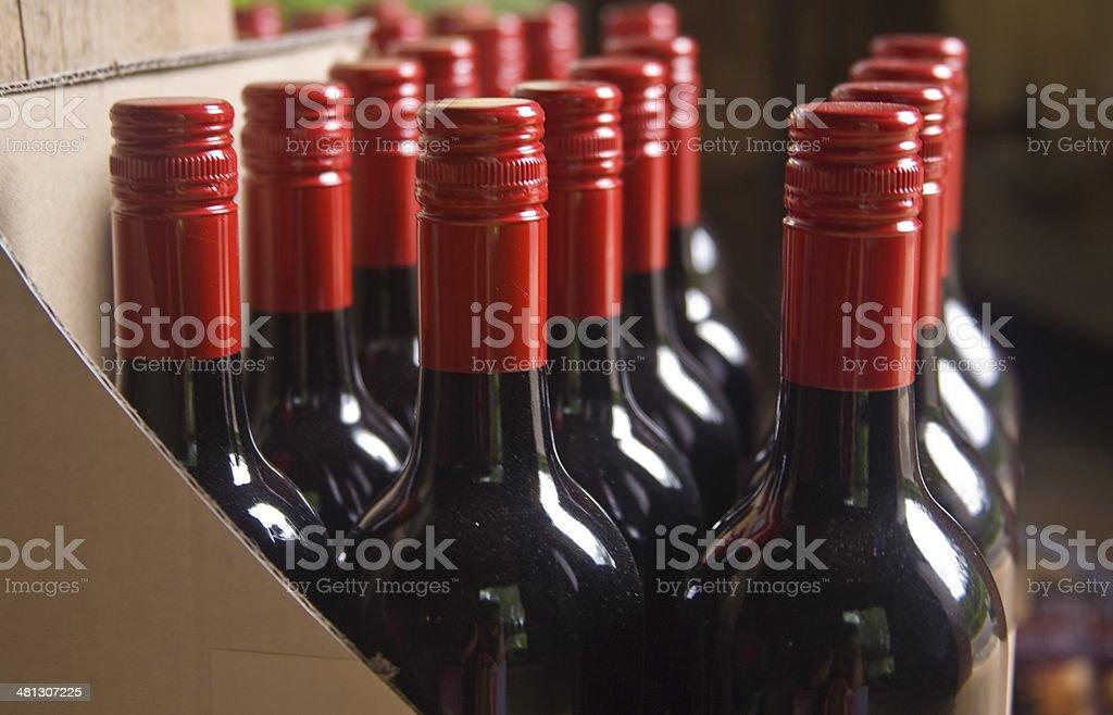 crate of wine stock photo