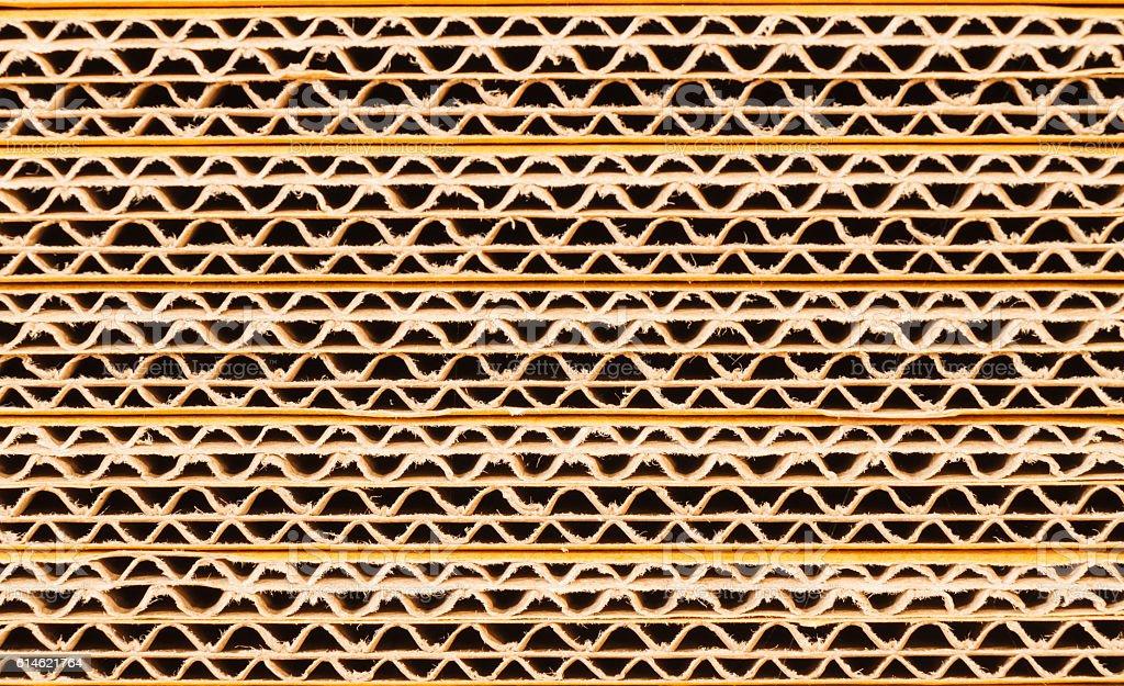 Crate paper zigzag. stock photo