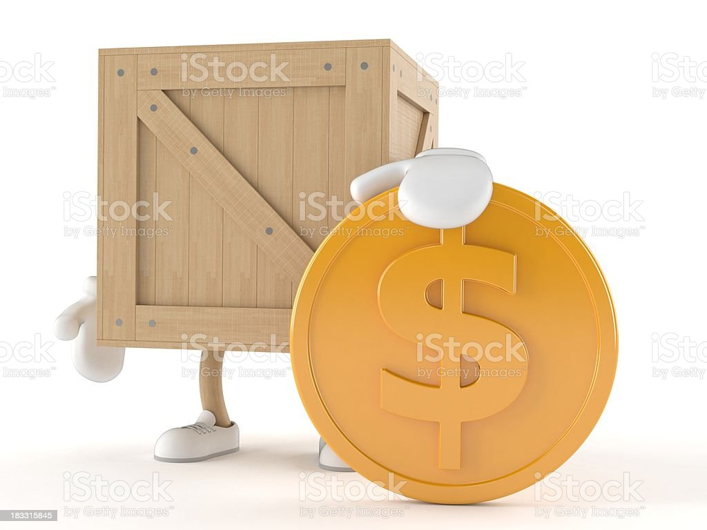 Crate royalty-free stock photo