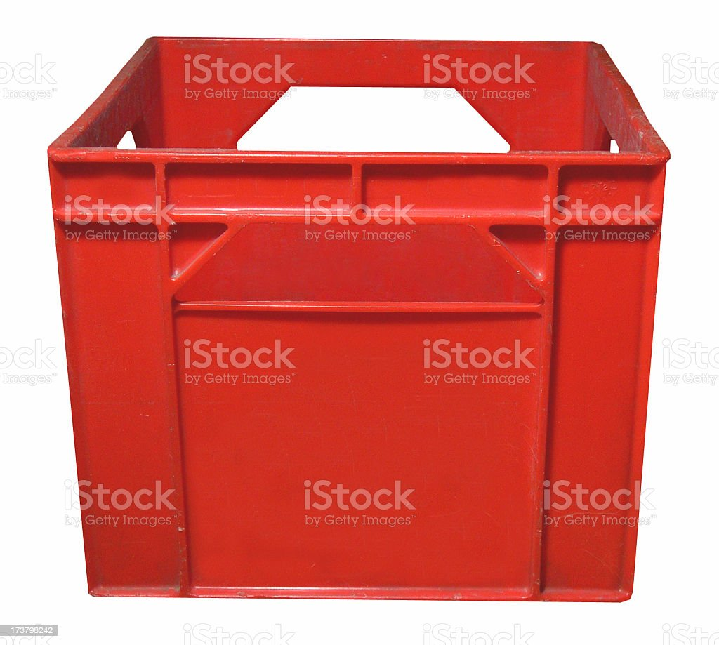 crate seeking records.. stock photo