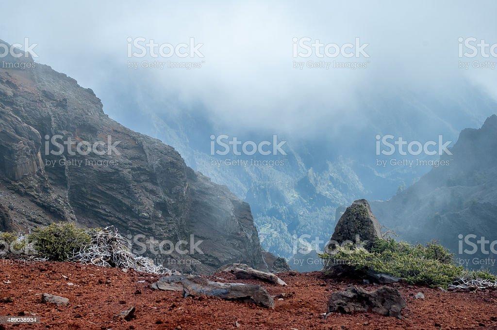 Crater Caldera de Taburiente, La Palma stock photo