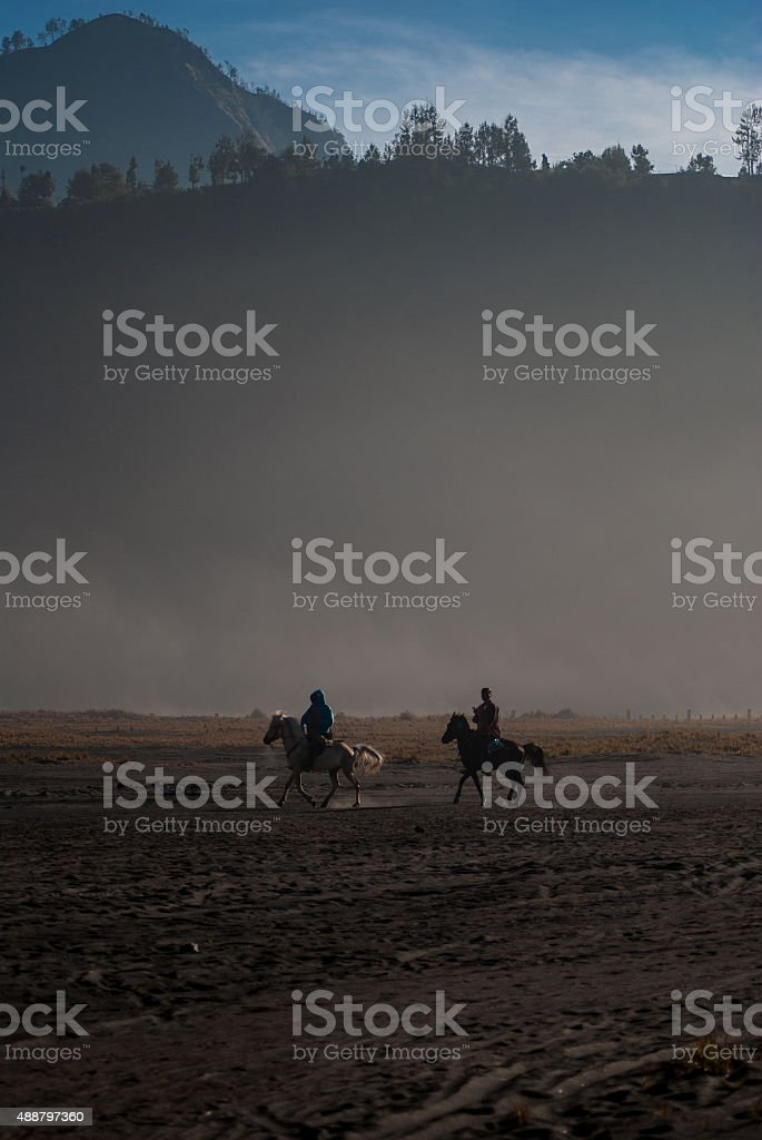Crater Canter stock photo