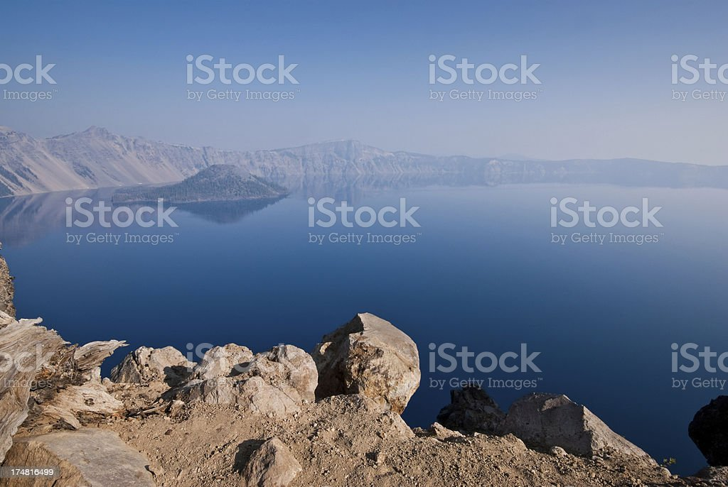 Crater Lake in the Early Morning royalty-free stock photo