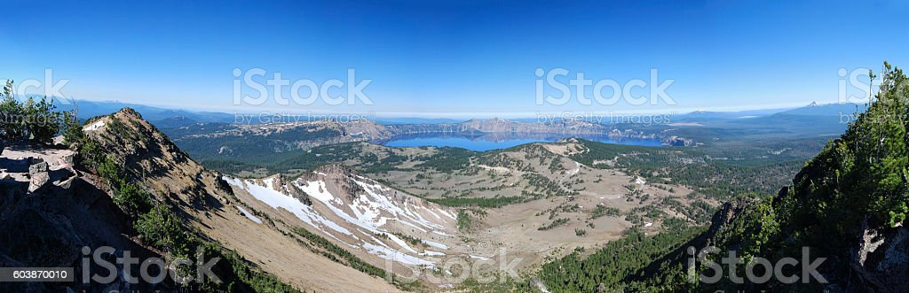 Crater Lake from Mt Scott stock photo