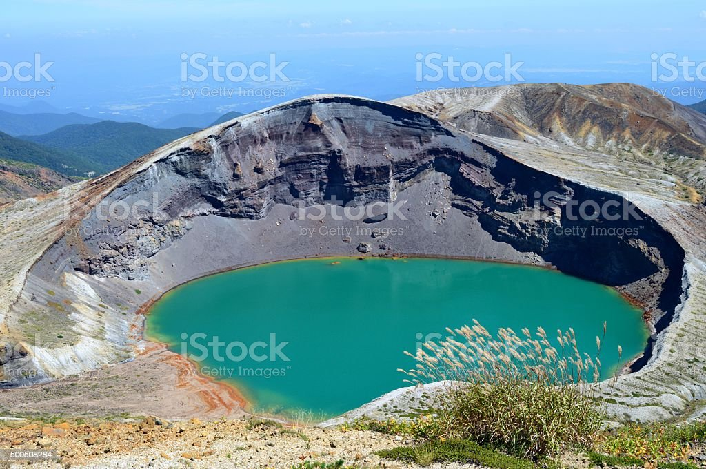 Crater Lake in Mt. ZAO stock photo