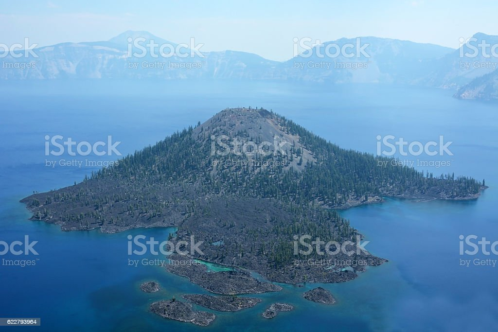 Crater lake in Oregon stock photo