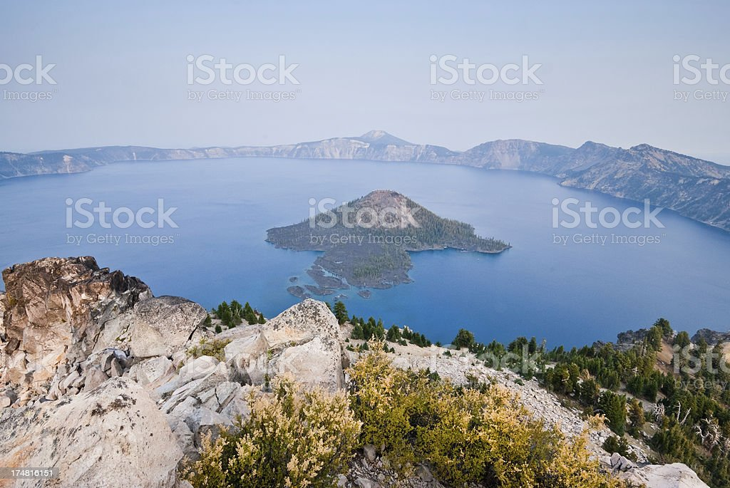 Crater Lake in the Evening royalty-free stock photo