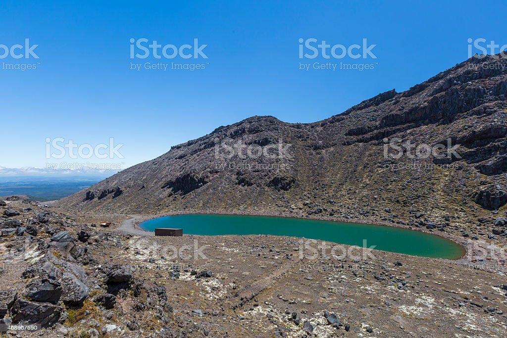 Crater Lake in Tongariro Crossing stock photo