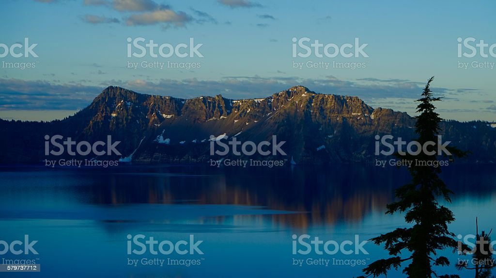 Crater Lake Light stock photo