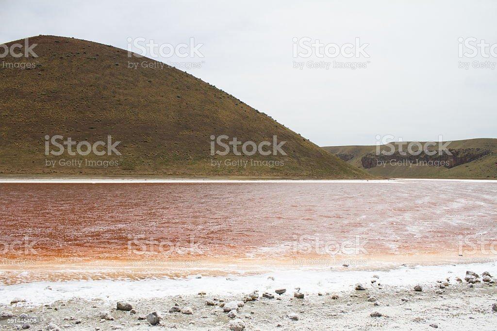 Crater lake, Meke lake stock photo
