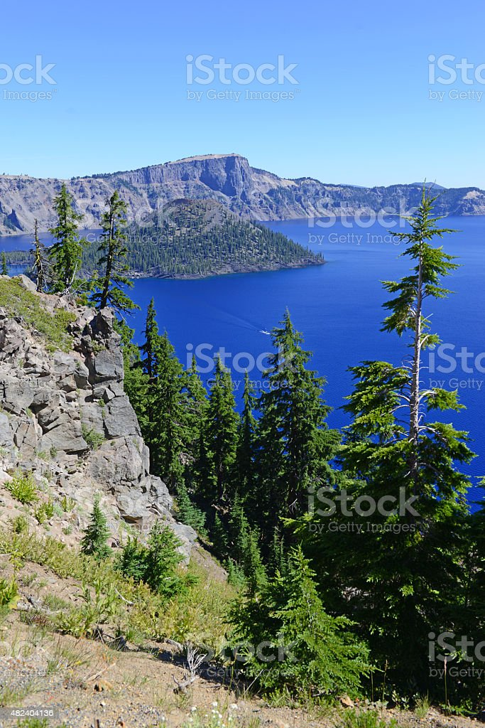Crater Lake National Park, Oregon, USA stock photo