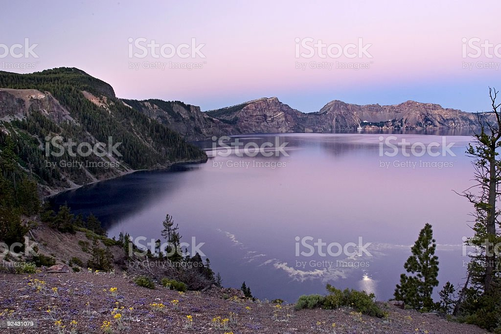 Crater lake National Park stock photo