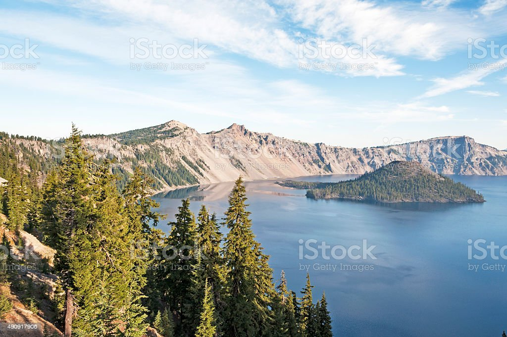 Crater Lake one of most beautiful lakes in the World stock photo