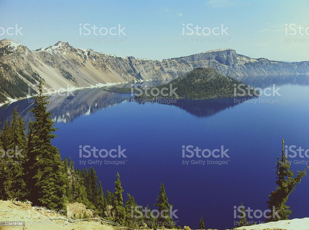 Crater Lake Oregon Scenic Beautiful Landmark Nature stock photo