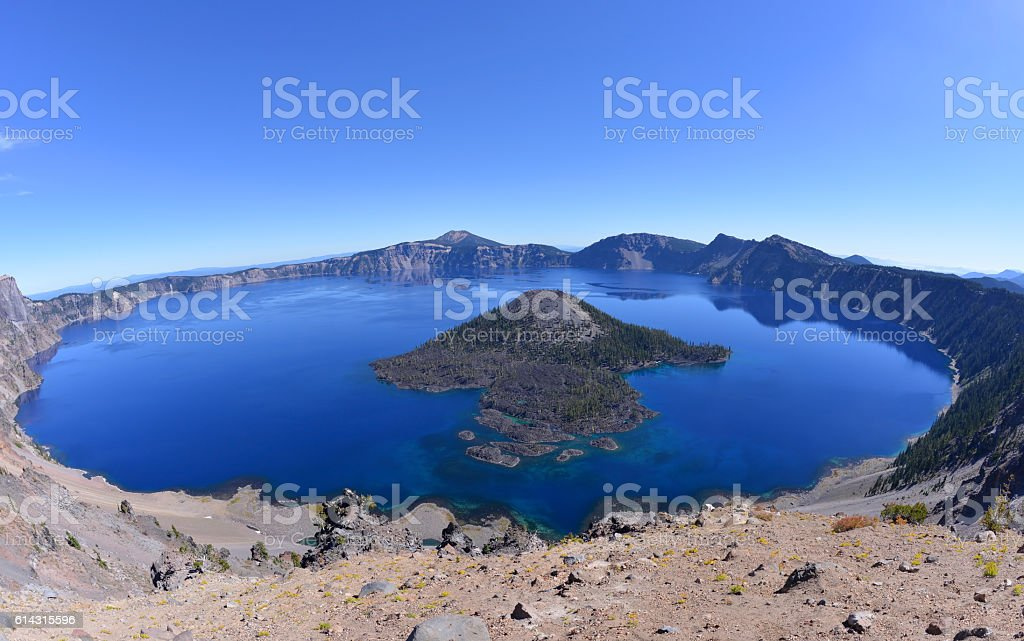 Crater Lake, Oregon state, USA stock photo
