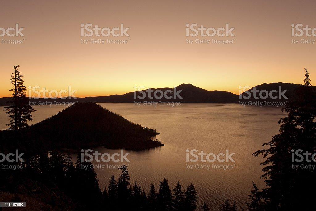 Crater lake royalty-free stock photo