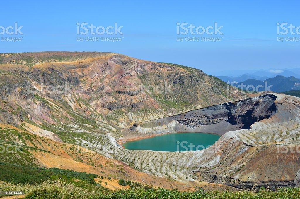 ZAO Crater Lake stock photo