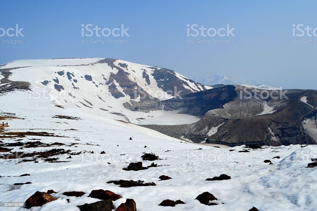 Crater lake stock photo