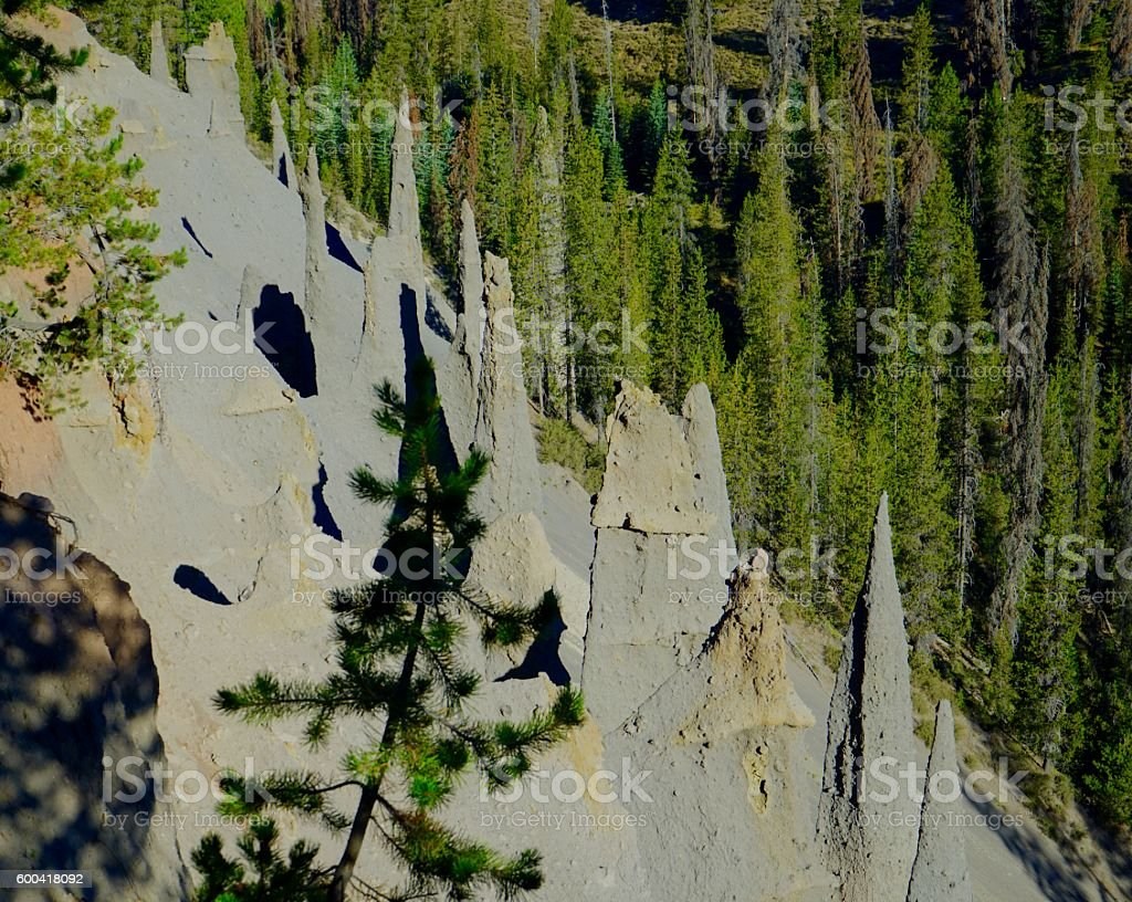 Crater Lake Pinnacles stock photo