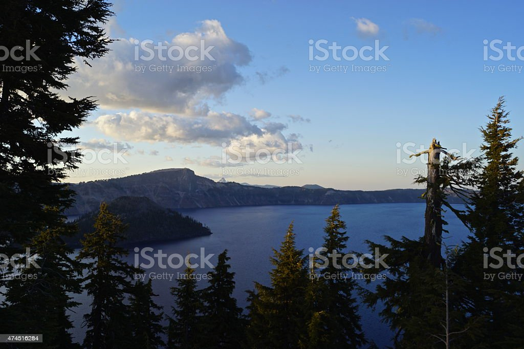 Crater Lake Solitude stock photo