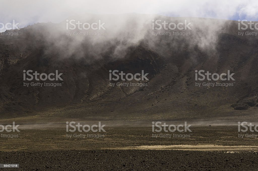 Crater Landscape III stock photo