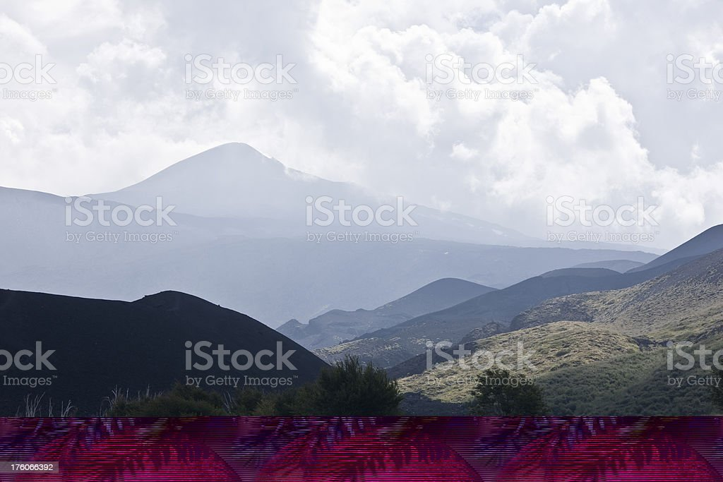 Crater of Etna royalty-free stock photo