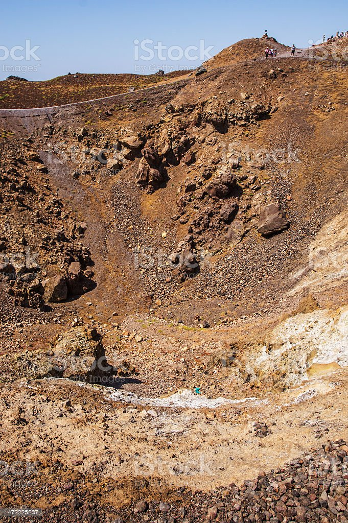 Crater of Santorini's Volcano royalty-free stock photo