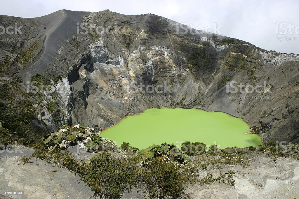 Crater of the Irazu volcano - Costa Rica royalty-free stock photo